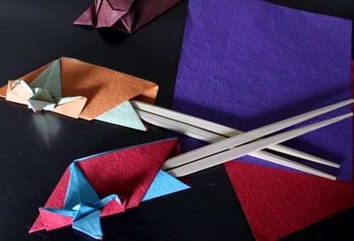 ハート 折り紙 折り紙 箸袋 鶴 : to-ge.co.jp
